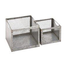 2 Piece Fascinating Metal Wire Basket Set