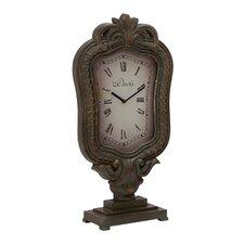 Customary Elegant Styled Wood Table Clock