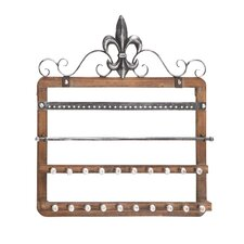 Elegant Designed Wood Wall Mounted Jewelry Holder