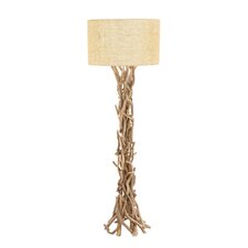 Simple Driftwood / Metal Floor Lamp