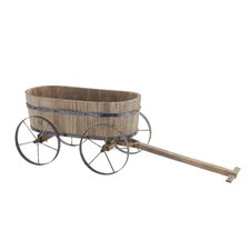 Attractive Wood / Metal Wagon Planter
