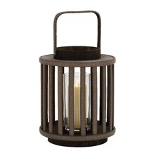 Striking Wood Glass Lantern