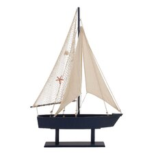 The Wood Canvas Sail Model Boat