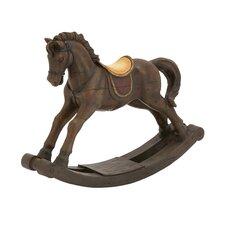 Impressive Styled Polystone Rocking Horse Figurine
