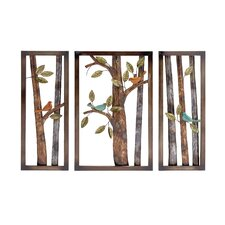 Attractive Styled Classy 2 Piece Metal Wall Plaque Set