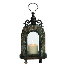 Customary Styled Metal Glass Lantern