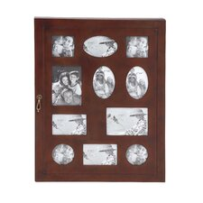 The Joyous Wood Glass Wall Photo Cabinet