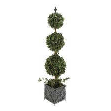 The Lifelike PVC Topiary Metal Planter