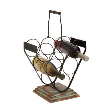 Creative Styled Stylish Metal Wood Wine Holder