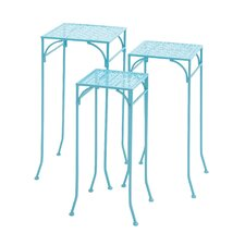 3 Piece Metal Plant Stand Set