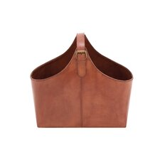 Wood Real Leather Magazine Holder