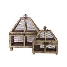 2 Piece Terrarium Set