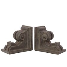 Elegant and Stylish Fiberstone Book Ends (Set of 2)