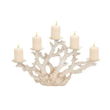Striking Polystone Metal Coral Candelabra