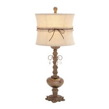 "Attractive 31"" H Table Lamp with Bell Shade"