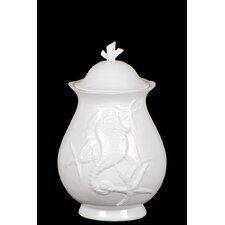 Decorative Ceramic Seashell Canister