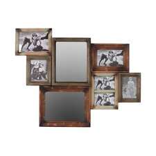 Durable Wooden Multi-Photo 2 Mirror Frame