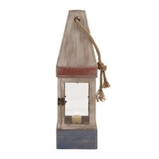 Fascinating Wood Rope Glass Candle Lantern