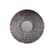 Doubled Sunflower Petal Metal Mirror