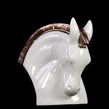 Bowing Stoneware Horse Head Bust