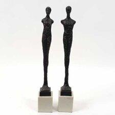 2 Piece Decorative Resin Statue Set