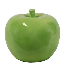Decorative Lustrous and Glossy Ceramic Apple Figurine