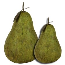 2 Piece Truly Artistic Pear Figurine Set