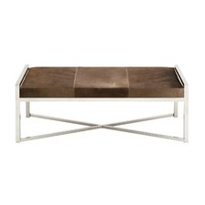 The Simple Metal Leather Bedroom Bench