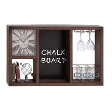 Useful Metal Wall Clock Wine Rack