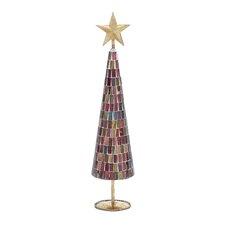Multi Mosaic Mirror Christmas Tree with Star