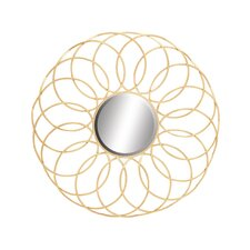 Exquisite and Elegant Metal Wall Mirror