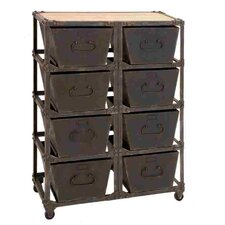 Metal Wood Cabinet with 8 Racks