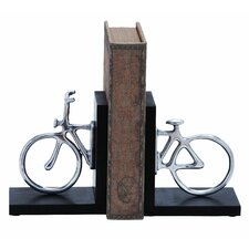 <strong>Woodland Imports</strong> Cycle Book Ends (Set of 2)
