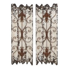 <strong>Woodland Imports</strong> Wall Décor (Set of 2)