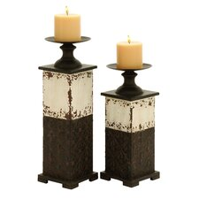 Traditional Metal Candle Holder (Set of 2)