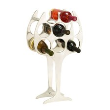 <strong>Woodland Imports</strong> 8 Bottle Tabletop Wine Rack