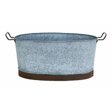 Galvn Metal Oval Tub