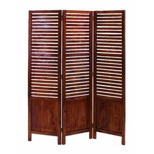 "<strong>Woodland Imports</strong> 67"" x 51"" Traditional 3 Panel Room Divider"