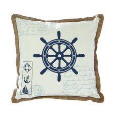 <strong>Woodland Imports</strong> Ship Wheel Pillow