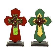 2 Piece Inspirational Cross Set