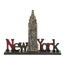 Décor New York Tourist Empire State Building Table Letter Block