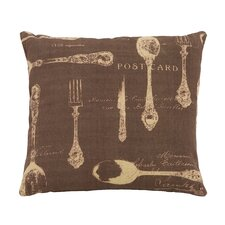 <strong>Woodland Imports</strong> Paris Dining Theme Pillow