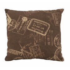 <strong>Woodland Imports</strong> Paris Passport Theme Pillow