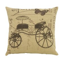 Paris Lifestyle Theme Fabric Pillow