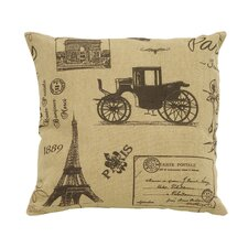 Paris Tourist Theme Pillow