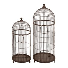 Garden Decor Bird Cage (Set of 2)