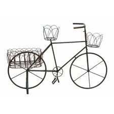 <strong>Woodland Imports</strong> Metal Bike Shaped Planter