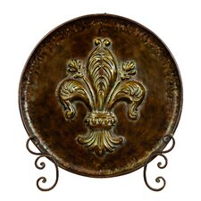 Decorative Metal Plate with Stand