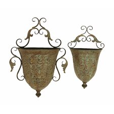 Metal Wall Planter (Set of 2)