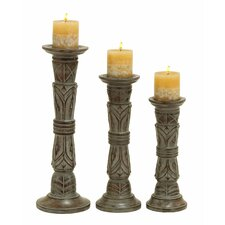 Wooden Candle Holder (Set of 3)